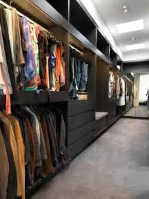 Long Narrow Walk In Closet Design
