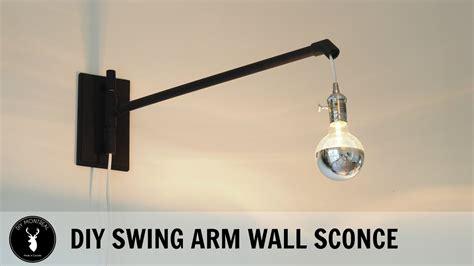 diy swing arm diy swing arm wall sconce youtube