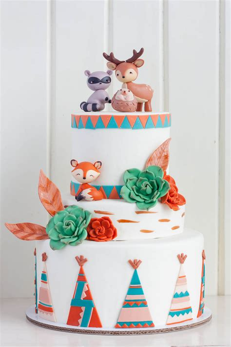 Unisex Baby Shower Cupcakes - cake sets woodlands teepee cottontail cake studio sugar art amp pastries