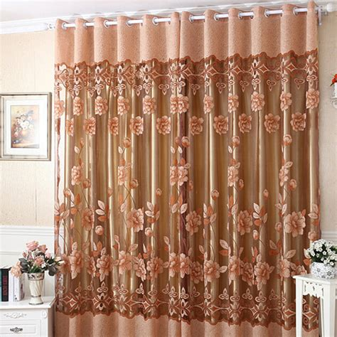 sheer flower curtains floral tulle curtain sheer drape panel door window voile