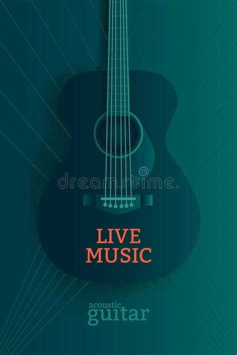 Live Music Poster Stock Vector Image Of Musician Placard 74819771 Live Poster Template