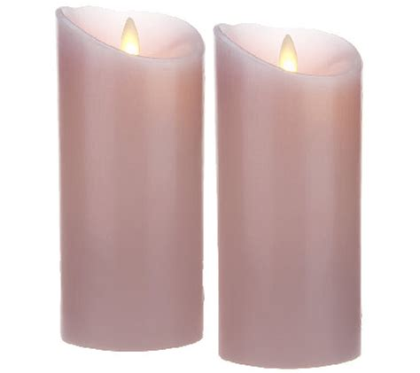 Set Of 2 3x6 In Luminara Set Of 2 3x6 Quot Flameless Candles With Timers Page 1 Qvc