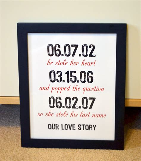 unique gifts for husband anniversary 8x10 gift important dates