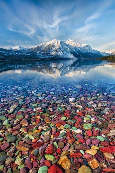 lake mcdonald montana colored rocks mountain jewels lake mcdonald glacier national park