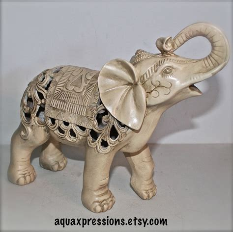elephant decor for home elephant statue ivory figurine home decor ornate