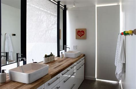 butcher block bathroom sink the barcelona home of minotti s creative director