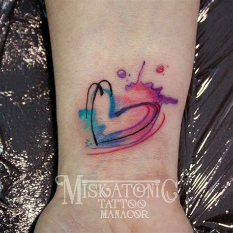 instagram tattoo heart watercolour heart tattoo by marilen adrover photo