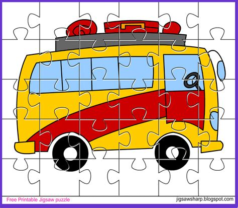 printable jigsaw puzzle for kids bee jigsaw free printable jigsaw puzzle game bus jigsaw puzzle