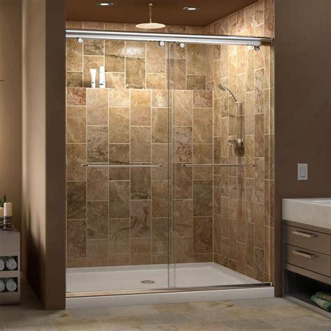 30 Shower Door Dreamline Charisma 30 In X 60 In X 78 75 In Semi Framed Sliding Shower Door In Chrome With