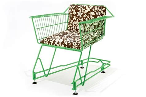 Green Chair Recycling by Shopping Cart Chair From Reestore Reestore Recycled