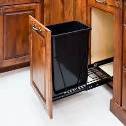 Kitchen Cabinet Trash Can Pull Out Single Trash Can Pull Out Tray For Base Cabinets