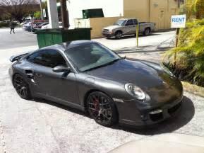 gray porsche 911 turbo w black rims miami cars