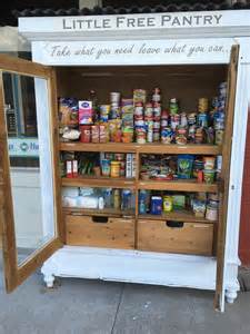 free pantry donation and site opens outside