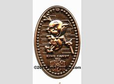 WDI Pressed Penny Style Pins Collection Elongated Penny Press