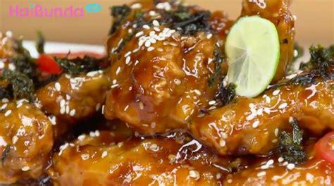 menu buka puasa crispy yakiniku wings manis gurih kaya