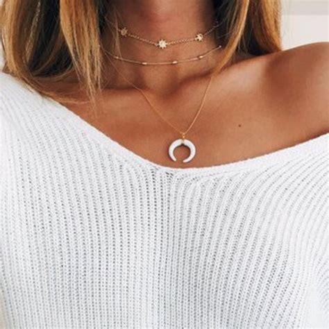 Layered Choker jewels necklace gold choker necklace chain
