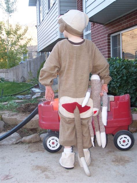 diy sock monkey costume 187 dollar store crafts
