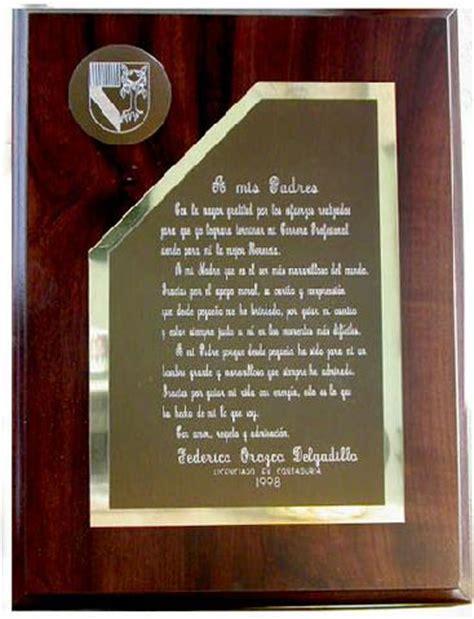 dedicatorias para placas de reconocimiento para un lider im 225 genes de premiaciones placas regalos medallas