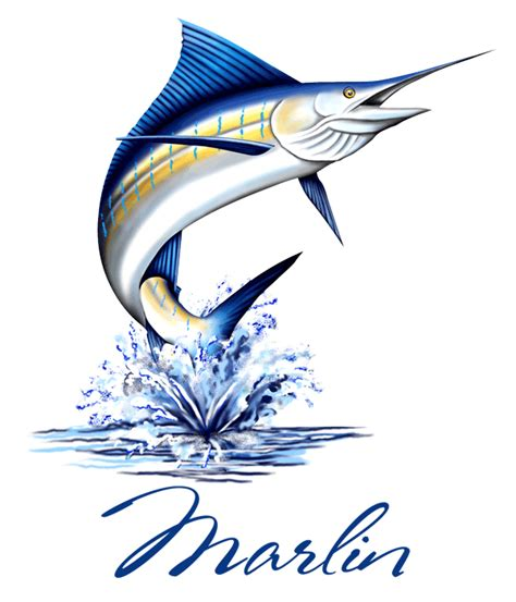 blue marlin clip art kaf 056 marlin fish 2 t shirt gif