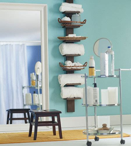 Bathroom Shelving Ideas For Towels Bathroom Towel Storage 12 Creative Inexpensive Ideas