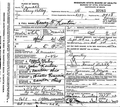 county missouri genweb archives certificates