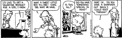calvin and hobbes valentines day calvin and hobbes comic strips calvin and s day