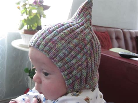free pixie hat knitting pattern adorable pixie or gnome hat for baby free pattern