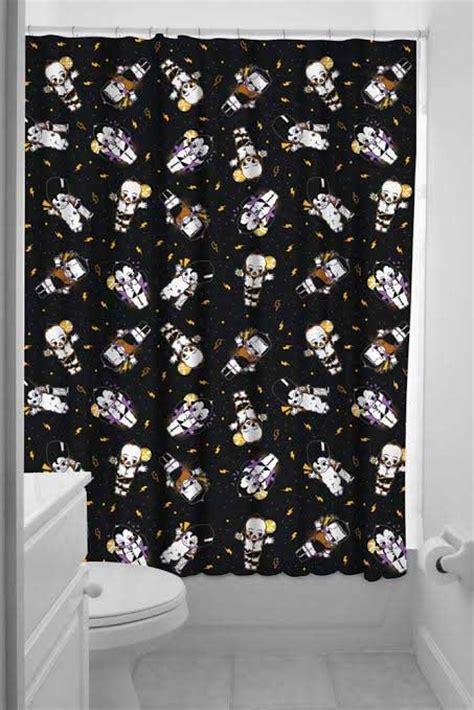 bettie page shower curtain sourpuss kewpie monsters shower curtain
