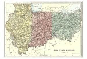 Indiana Ohio Map by Map Of Ohio Indiana Amp Illinois 1879
