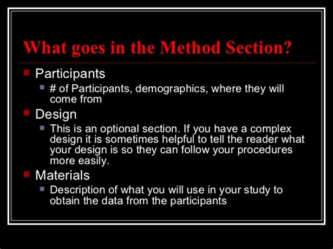 Method Section Apa by Apa Method Section
