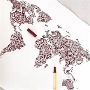 1000 ideas about world map tattoos on pinterest tattoos