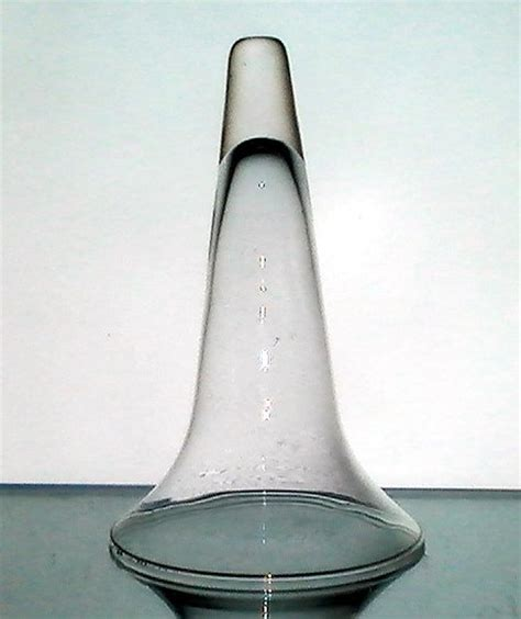 Glass Cone Vase by Wall Vase Glass Cone Vessel 7 75 X 5 Clear Flared Oos