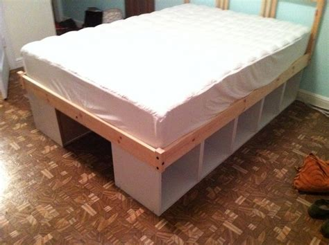 build your own bed with storage using bookcases your