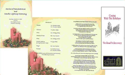 memorial service program template 2 free memorial service program template teknoswitch