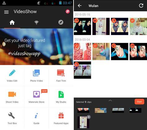 membuat video slideshow di android cara membuat video slideshow foto dan musik di android
