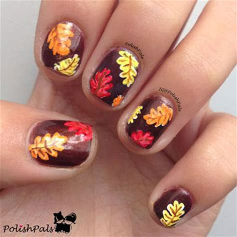 easy nail art leaf 15 best autumn leaf nail art designs ideas trends