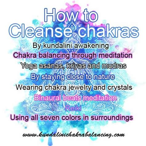 Meditation To Detox by Chakra Cleansing Tips And Techniques Do It Yourself