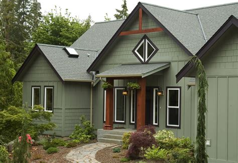 green exterior paint Exterior Traditional with exterior