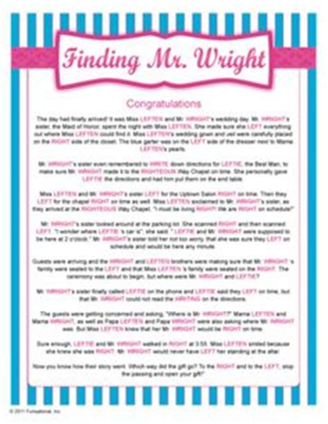 Right Left Wedding Shower by 1000 Images About Bridal Shower On Bridal