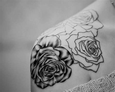 black and white rose tattoos on shoulder shoulder black and white www pixshark