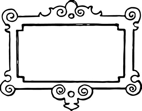 free printable picture frames coloring home