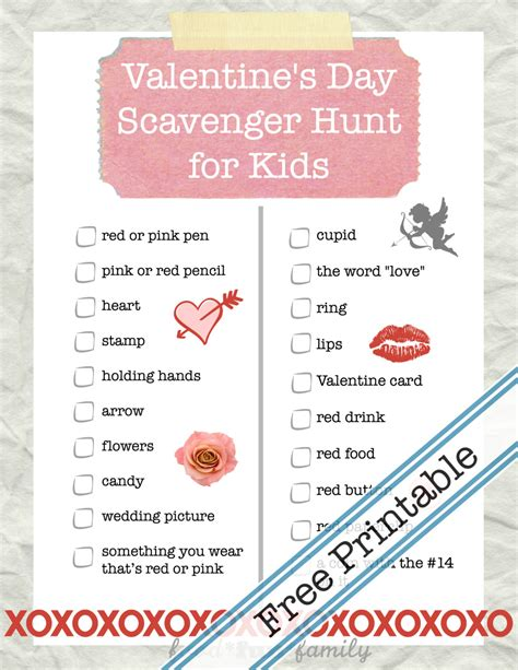 valentines scavenger hunt clues s day scavenger hunt printable for winter
