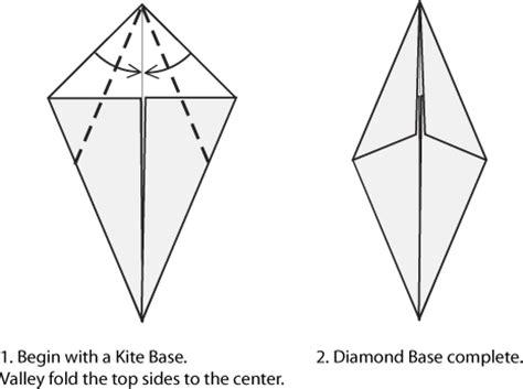 Origami Kite Base - origami bases kite fish and bases