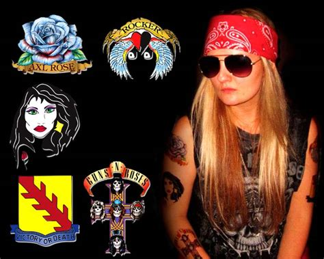 axle rose tattoos axl costume tattoos tattoos gallery