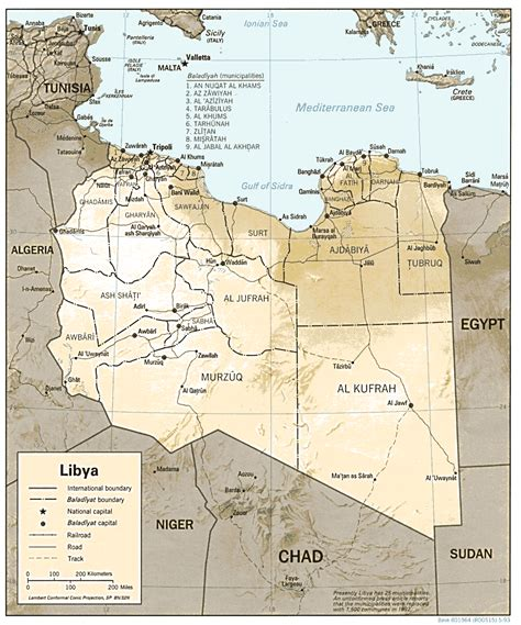 map of libya libya maps perry casta 241 eda map collection ut library