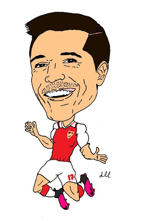 alexis sanchez cartoon awaydraw com for cartoons caricatures and general