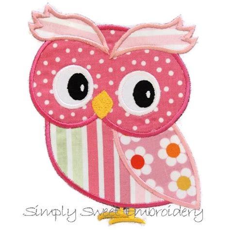 owl embroidery design applique girl owl machine embroidery applique design from