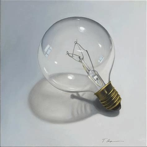 light bulb painting by tina blondell