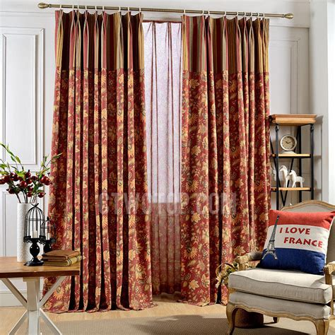 red patterned curtains living room red floral jacquard chenille living room curtains in