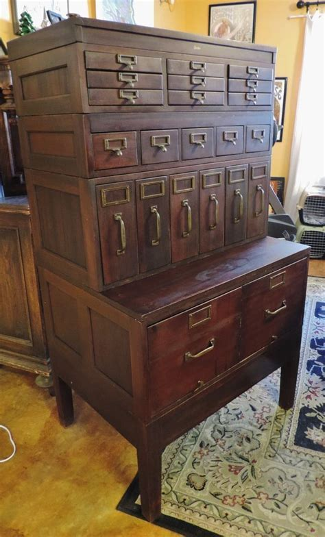 Details about Rare Antique Globe File Cabinet 22 DRawers